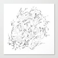 Liquid Animals Canvas Print