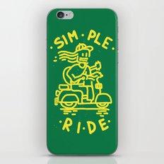 Simple Ride iPhone & iPod Skin