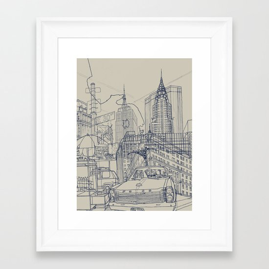 New York! Framed Art Print
