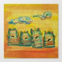 Singing Cats Canvas Print