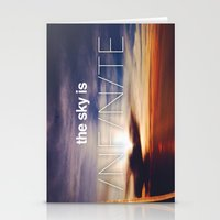 the sky is...  Stationery Cards
