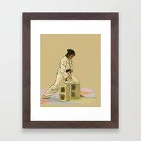 Preparing To Break A Bri… Framed Art Print