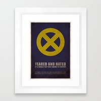 X-Men (Super Minimalist … Framed Art Print
