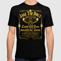Jake the dog's Mens Fitted Tee Black SMALL