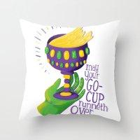Go-Cups Throw Pillow