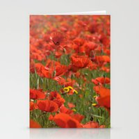 Red Poppies 1918 Stationery Cards