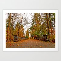 Wapato Park bridge Art Print