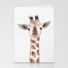 Giraffe on eyehight Stationery Cards
