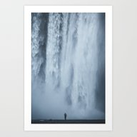 Art Print featuring Scale At Skogafoss by • Of Two Lands •