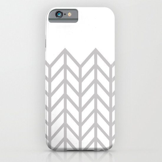 GRAY & WHITE LACE CHEVRON iPhone & iPod Case