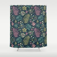 Mystical Forest (Teal and Lilac) Shower Curtain