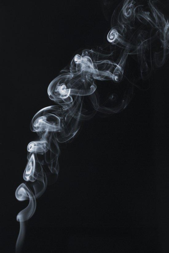 Smoke stairway Art Print