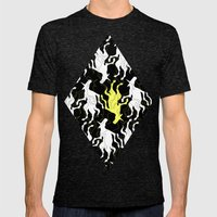 Psychedelic Yellow Unico… Mens Fitted Tee Tri-Black SMALL
