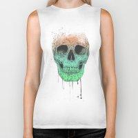 Pop art skull  Biker Tank