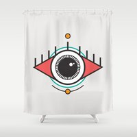 The Seeing Eye Shower Curtain