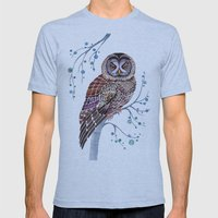 lacy owl Mens Fitted Tee Athletic Blue SMALL