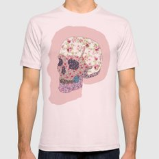 Liberty Skull Mens Fitted Tee Light Pink SMALL