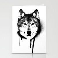 Wolf spray paint Stationery Cards