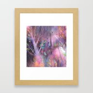 Framed Art Print featuring Into The Forest by Lisa Evans