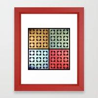 Brick Work Framed Art Print