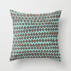 Coral Pebbles Throw Pillow