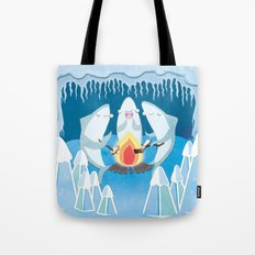 A Shiver of Sharks Tote Bag