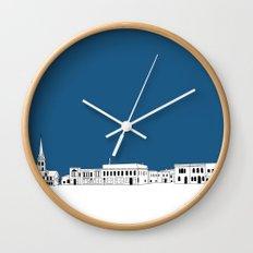 Whitewater Wisconsin Cityscape Illustration Cartoon Wall Clock
