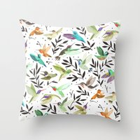 Hummingbirds of North America Field Guide  Throw Pillow