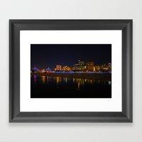 Zakim Bridge At Night  Framed Art Print