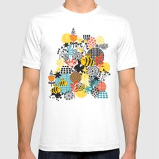 The bee. SMALL White Mens Fitted Tee