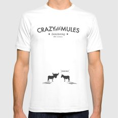 Crazy old Mule / Chicago Mule Mens Fitted Tee White SMALL