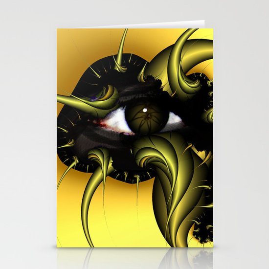 Golden Eye Stationery Card
