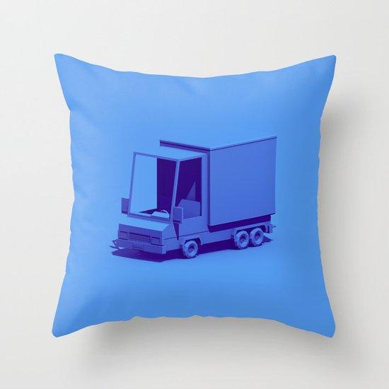 Box Truck Throw Pillow