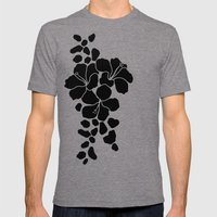 Hibiscus Animal Black Iv… Mens Fitted Tee Tri-Grey SMALL
