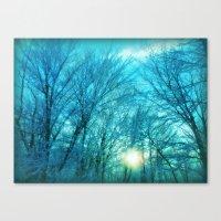 Landscape ~ Winter sunset Canvas Print