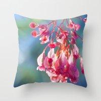 Angel Wing Begonia Throw Pillow