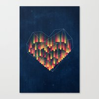 Interstellar Heart II Canvas Print