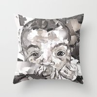 Baby Xander Throw Pillow