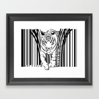 Tigers extinct in 12 years? Framed Art Print