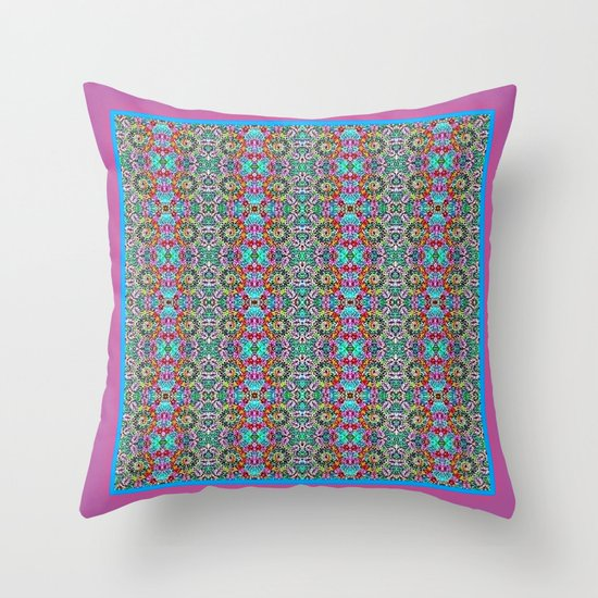 Tahitian Garden Throw Pillow