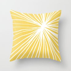 Dandelion in Yellow by Friztin Throw Pillow