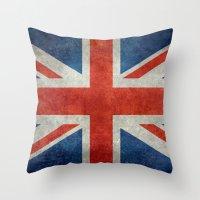 UK British Union Jack Fl… Throw Pillow