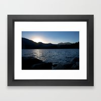 Fallen Leaf Lake At Suns… Framed Art Print