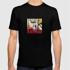 Little Dog Mens Fitted Tee Black SMALL