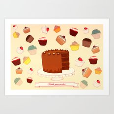 I Bake your Pardon! Art Print