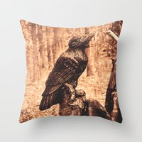 Raven (Slavanic paganism) Throw Pillow