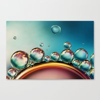 Oil And Water Mix Canvas Print