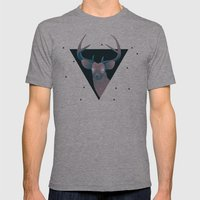Deer Hipster Mens Fitted Tee Athletic Grey SMALL