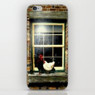 iPhone & iPod Skin featuring Roosters On A Ledge  by Chris' Landscape Ima…