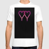 Neon Fangs Mens Fitted Tee White SMALL